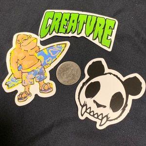 Weird Creatures sticker set (6)